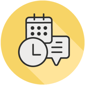 icon of calendar symbols to denote meeting mintues